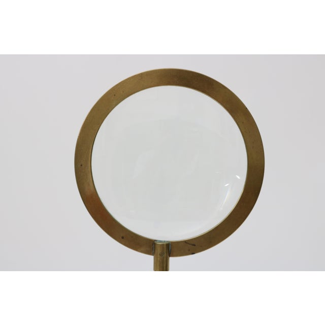 1930s Mid-Century Adjustable Brass Magnifier For Sale - Image 5 of 10
