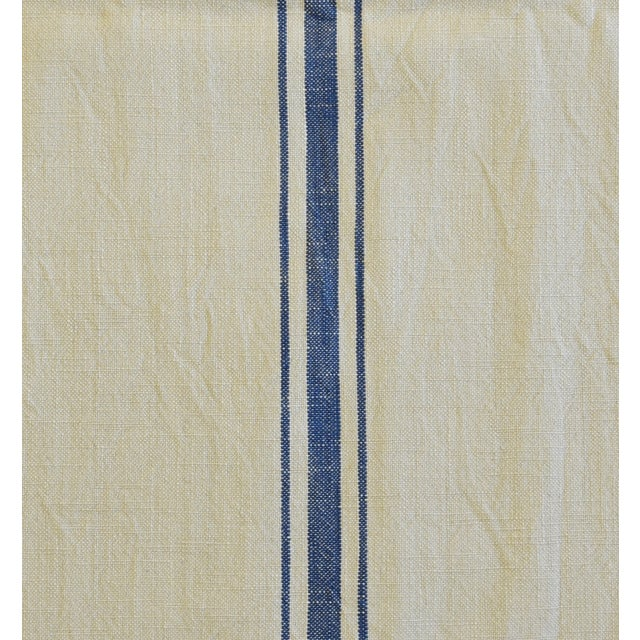 "French Farmhouse Blue Striped Table Runner 110"" Long For Sale In Los Angeles - Image 6 of 8"