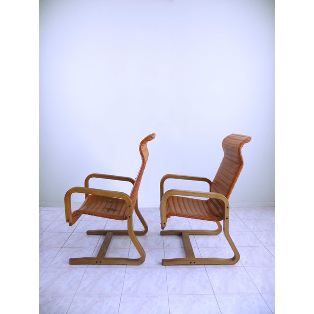 Wood Mid-Century Modern Thonet Bentwood Cantilever Lounge Chairs - a Pair For Sale - Image 7 of 10