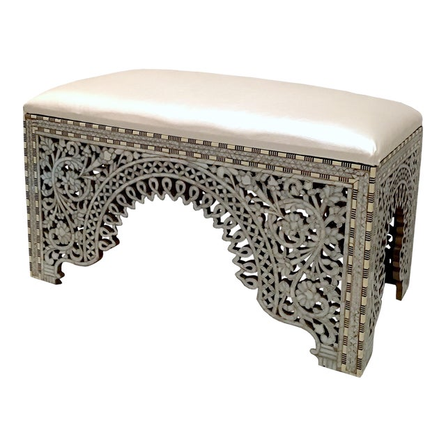 Mother of Pearl Inlay Bench For Sale