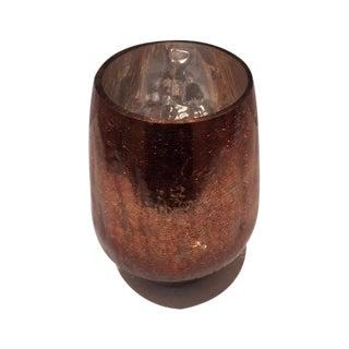 Modern Mercury Gold Glass Hurricane Candle Holder For Sale