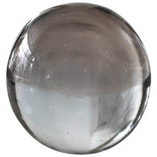 Large Murano Glass Round Paperweight For Sale