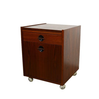 Danish Modern Mid Century Modern Rosewood File Cabinet For Sale