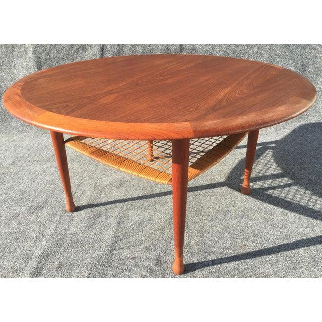 Danish Mid Century Teak Coffee Table 1 Small: Vintage Johannes Andersen For Cfc Silkeborg Danish Mid