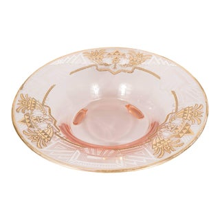 Art Deco Relief Etched and 24-Karat Gilt Relief Bowl For Sale