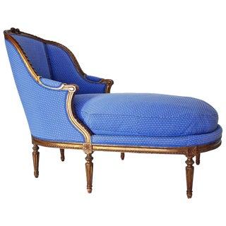 19th Century Antique Louis XVI Style Duchesse Chaise Longue For Sale