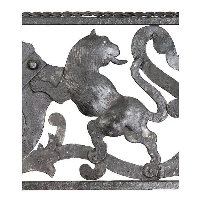 Italian Wrought Iron Fire Fender For Sale - Image 4 of 8