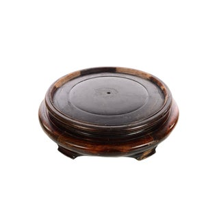 "Chinese 12"" carved Rosewood Base For Sale"
