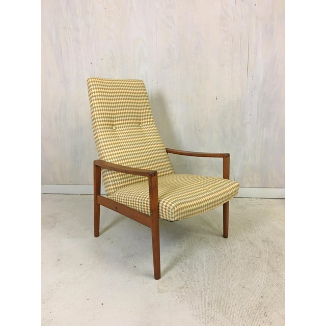 Teak Ulferts Upholstered Lounge Chair With Teak Frame For Sale - Image 7 of 7