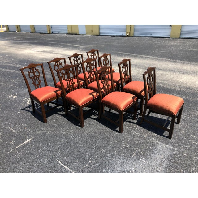 Chippendale Style Dining Chairs - Set of 10 For Sale - Image 13 of 13