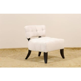 Restored Pair of Vintage Biscuit Tufted Loungers in the Style of Billy Haines Preview