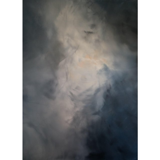"Kris Gould ""Whispering Clouds"" Original Abstract Painting - Image 1 of 5"