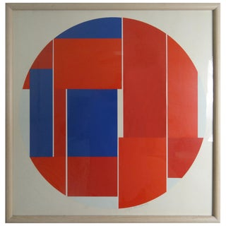Modern Screenprint Signed and Numbered by Ilya Bolotowsky For Sale