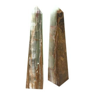 Pair of Mid-Century Obelisks For Sale