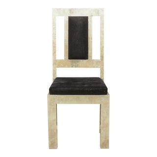 German Silver Metal Vintage Chair For Sale