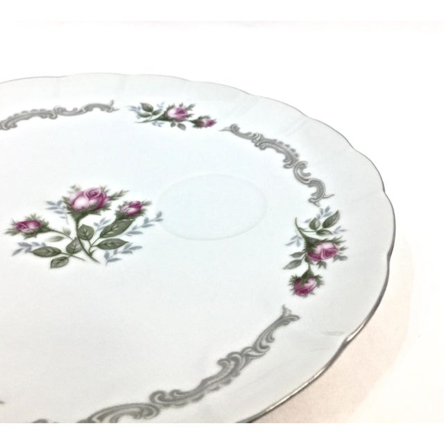 Metal Vintage Porcelain Luncheon Set, Svc for 8 For Sale - Image 7 of 11