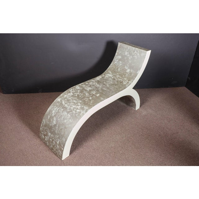 Mid-Century Modern White Lacquered Sculptural Chaise Lounge For Sale - Image 9 of 10