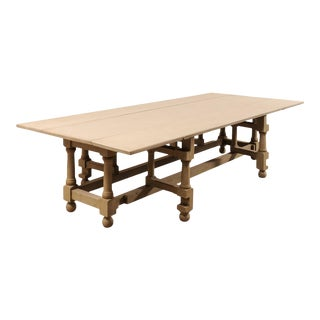 Traditional Painted Poplar Wood Gate-Leg Dining Table For Sale