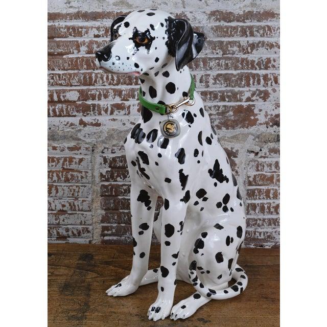 Vintage 1960s Ceramic Dalmatian Dog Figure For Sale - Image 13 of 13