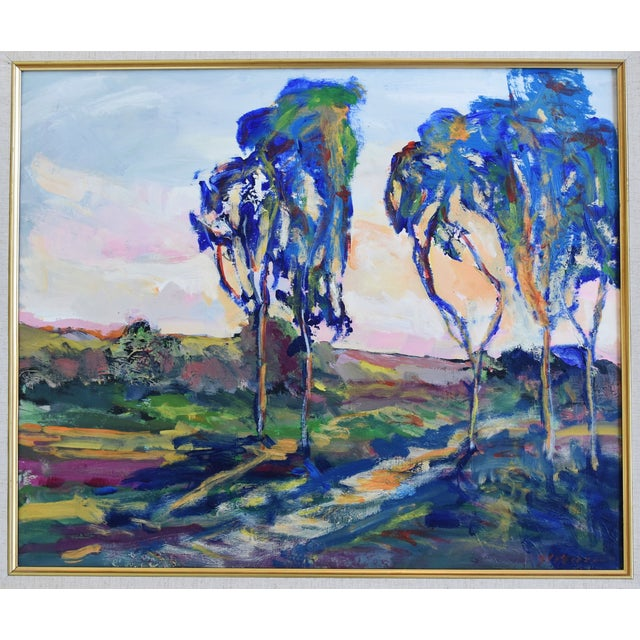 Abstract Juan Guzman Ojai California Landscape Oil Painting For Sale - Image 3 of 10