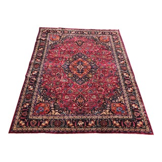 "Vintage Persian Heriz Large Area Rug - 9'7""x12'7"" For Sale"