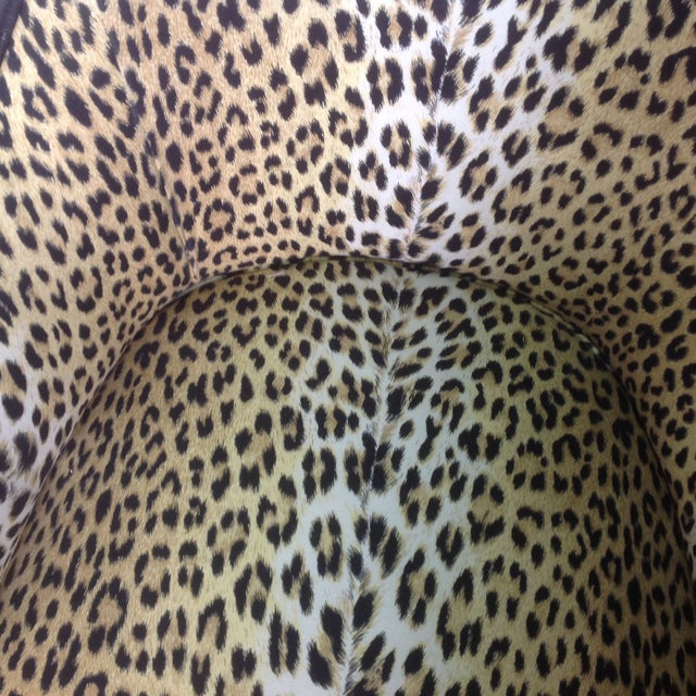 Brown Leopard Print Italian Chairs - A Pair For Sale - Image 8 of 8