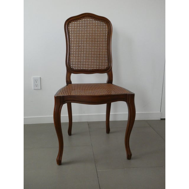 Reproduction Louis XV Walnut Caned Dining Chairs - Set of 8 - Image 5 of 10