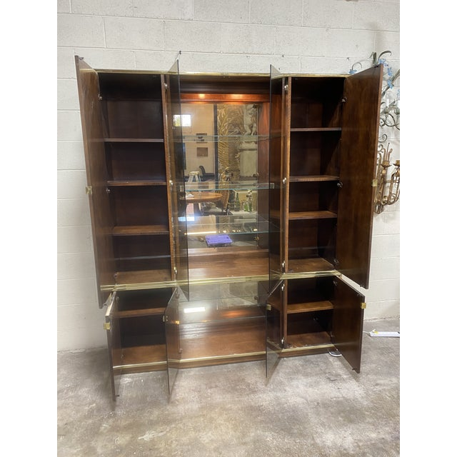 Mid Century Walnut Entertainment Cabinet For Sale In Richmond - Image 6 of 12