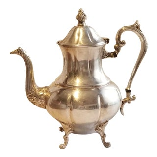 1940's Sheridan Teapot Silver on Copper For Sale