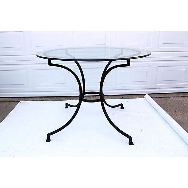Vintage Round Iron Dining Table - Image 2 of 3