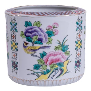 Chinoiserie-Style Ceramic Planter For Sale