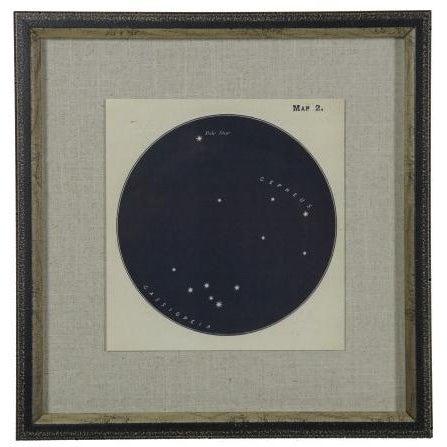 Presenting Constellation print 2 framed in a shadowbox. 17.25x17.25
