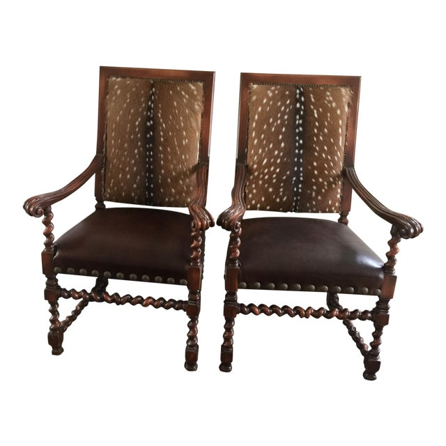 Old Hickory Tannery Dining Chairs - A Pair For Sale