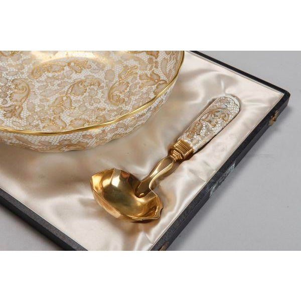 Le Tallec of Paris Gilded Porcelain Serving Set in Presentation Box - Image 5 of 10