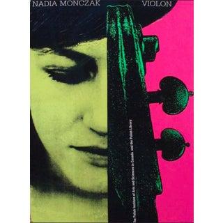 2013 Original Nadia Monczak, the Polish Insitute (Pink/Yellow) Poster - Alfred Halasa For Sale