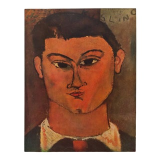 "1958 A. Modigliani ""Head of Kisling"" First Edition Lithograph For Sale"