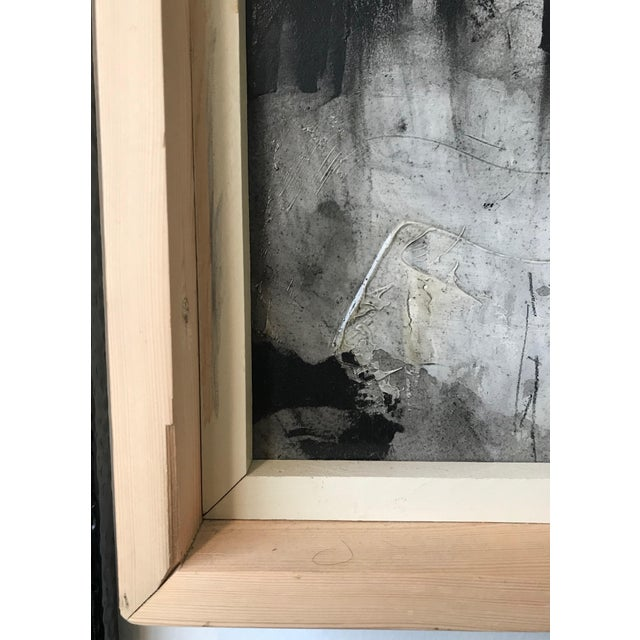 Canvas 1960s Vintage Graham Harmon Abstract Black and White Paintings - a Pair For Sale - Image 7 of 9