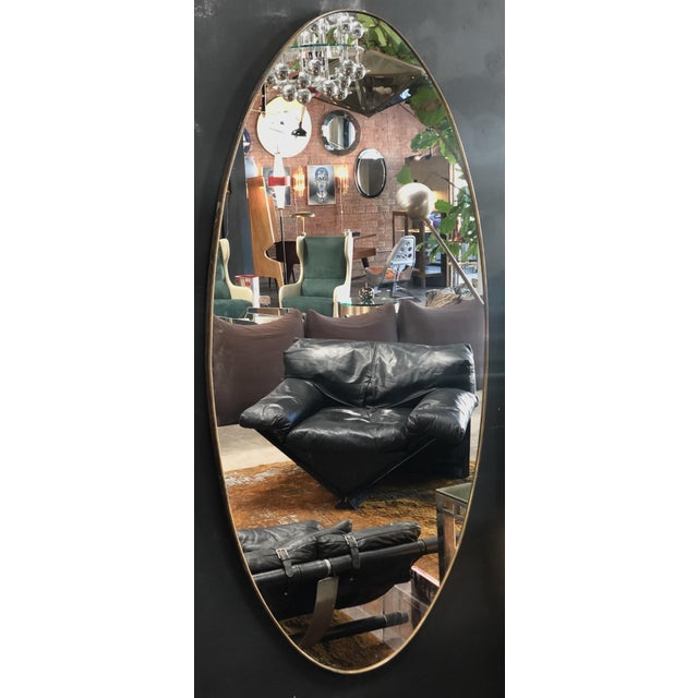 1960s Oversize Oval Wall Mirrors, Italy, Late 1960s - a Pair For Sale - Image 5 of 10