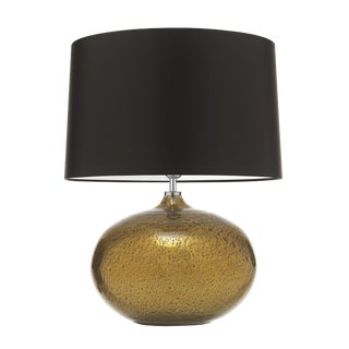 Gold Glass Table Lamp With Shade For Sale