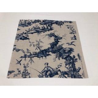 Schumacher Chinoiserie Linen Fabrics - A Pair Preview