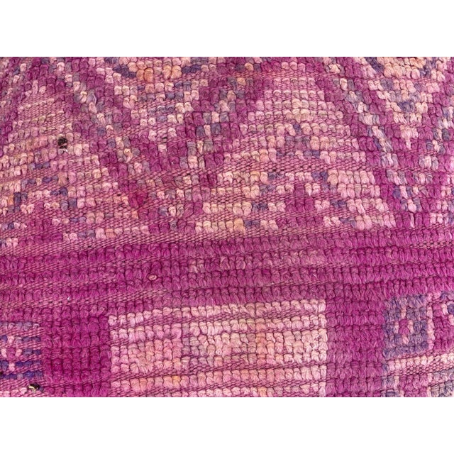 Hand Woven Berber Moroccan Pouf Cover For Sale - Image 6 of 13