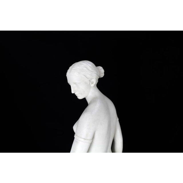19th Century Fine Porcelain Nude Woman Figurine Tall, Dated 1853 For Sale - Image 9 of 10