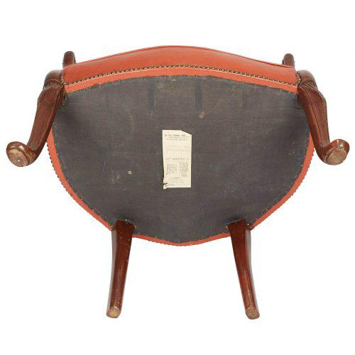 Orange 1780s English George III Mahogany and Leather Desk Chair For Sale - Image 8 of 10