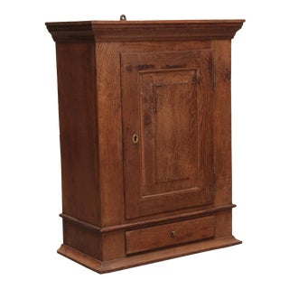 19th Century Antique Hanging Wall Cabinet From Denmark For Sale