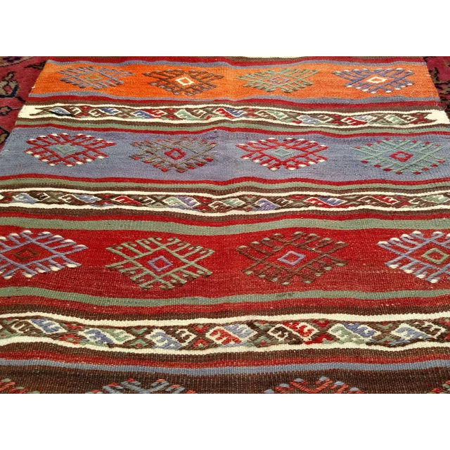 "1950s Vintage Moroccan Kilim Runner Rug - 2' 3"" X 7' 10"" For Sale - Image 5 of 13"