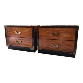Vintage Bassett Asian Chinoiserie Nightstands - a Pair For Sale