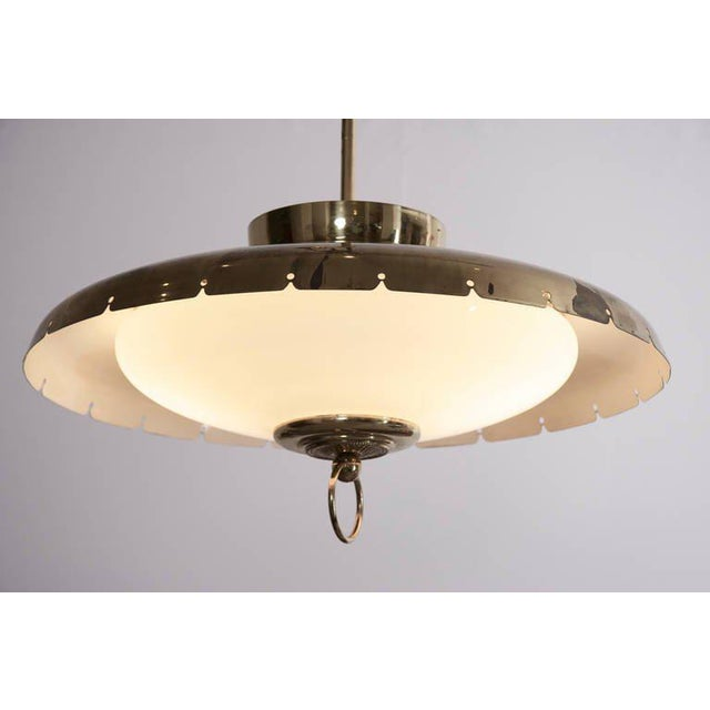 Mid-Century Modern Large 1950s Italian Brass Chandelier For Sale - Image 3 of 7