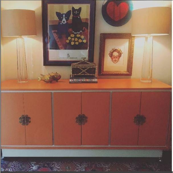 Chinoiserie Chic Cabinet & Drawers Credenza Sideboard - Image 2 of 12