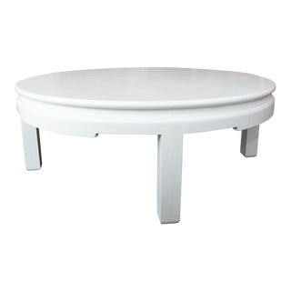 Lacquered Linen Wrap Coffee Table