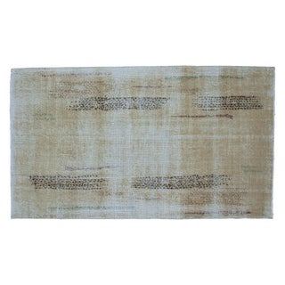 "Distressed Oushak Rug - 3'10"" X 6'8"" For Sale"